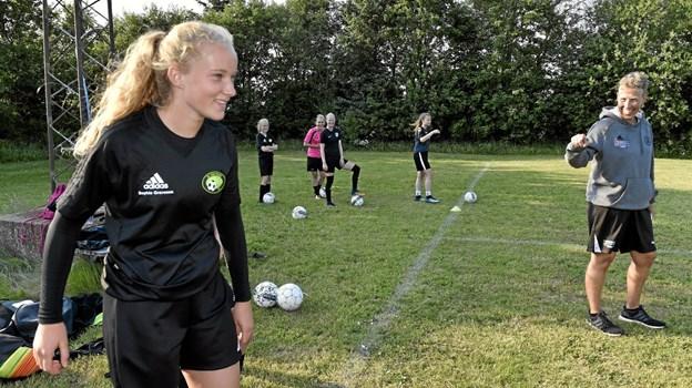 """Sophie Gravesen, U 18 landsholdet, blev for 2. år valgt af klubberne i FC THY piger som """"Årets Spiller"""".Arkivfoto"""