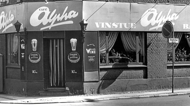 Der er naturligvis sket meget med stedet Café Alpha anno 1973. Arkivfoto: Max René