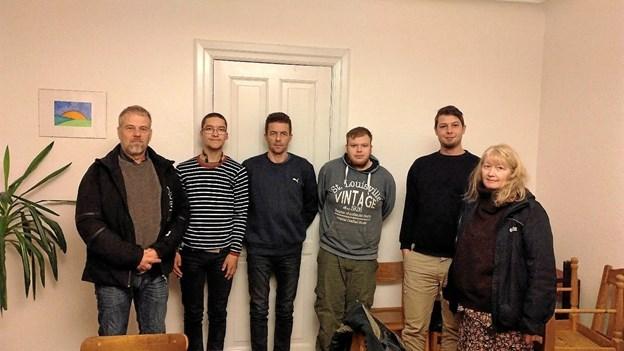 Fra den stiftende generalforsamling i IK Kontanten, fra venstre Peter Bøgh, René Lind Christensen, Jens Vognsgaard, Nicki Bak, Anders Ladefoged Nielsen og formand Gitte Jakobsen.