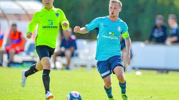 Christian Rye har forlænget sin kontrakt, så han også spiller for Jammerbugt FC i 2019.Privatfoto