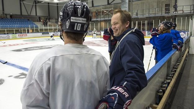 Her i en situation som assistenttræner i 2014. Peter Broen