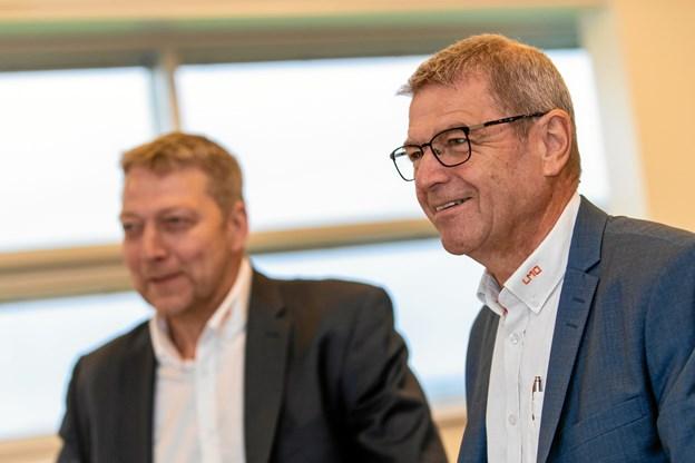Bestyrelsesformand Nis Kristian Hjort og adm. direktør i LMO Jan Winther er tilfredse med udviklingen.