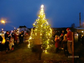 Juletræet blev tændt i Tranum