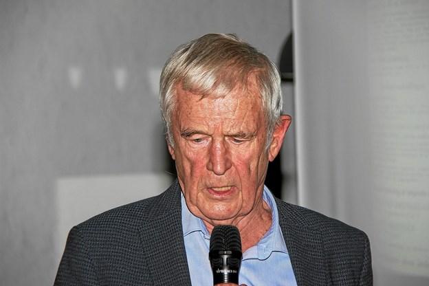 Ernst Trillingsgaard er en dygtig fortæller. Han forstår at holde folks interesse fangen. Foto: Hans B. Henriksen