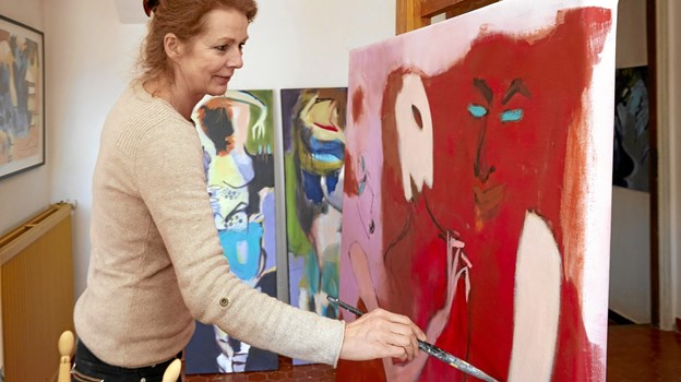 Inge Hørups værker ved denne udstilling er et orgie af skønhed, sensualitet, farver, kraft og energi.