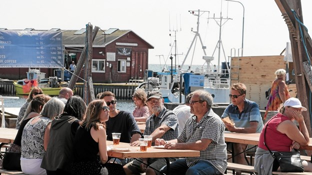 Havnefesten i Ålbæk er skudt i gang. Foto: Peter Jørgensen