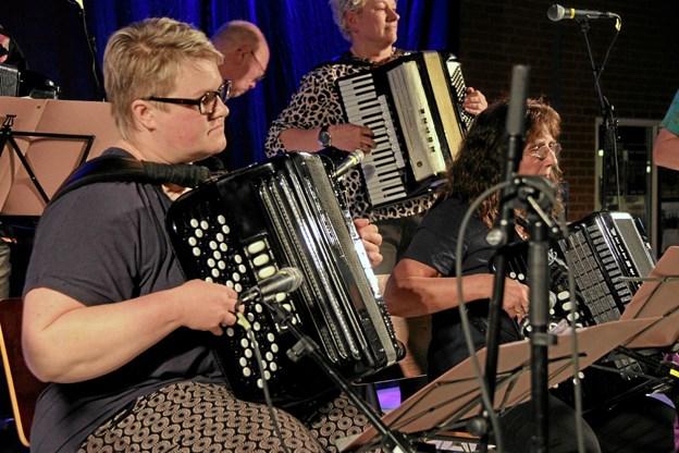"Bandet ""Bennys Tøzer"" deltog for første gang i Thy Harmonikatræf. Foto: Hans B. Henriksen Hans B. Henriksen"