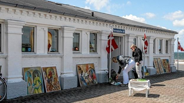 """Også """"Havneatelier"""" havde åbnet dørene i pinsedagen. Foto: Mogens Lynge Mogens Lynge"""