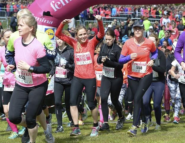 Løberne begiver sig ud på ruter, der enten er fem eller 10 kilometer. Arkivfoto: Michael Bygballe