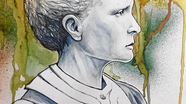 Emma Svensson tegner og maler. Privatfoto