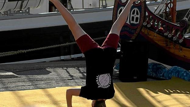 Cirkus Tordenskrald inviterer alle børn til at komme på havnen og øve artist og klovnenumre. Foto: privat privat