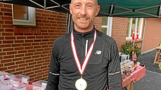 Peter Harritsø er vært for maraton- og halvmaraton i Hjørring på lørdag. I lørdags gennemførte han maratonløb nummer 69 til Sparkær Vinterløb med tiden 3.11. Privatfoto