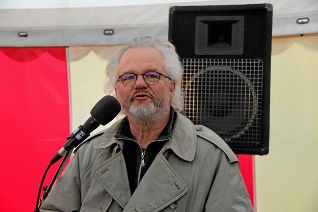 Arkitekt på projektet, Per Clausen fortalte om projektet. Foto: Hans B. Henriksen Hans B. Henriksen