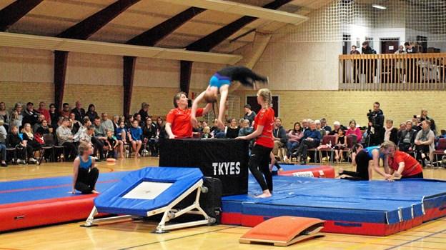 Springgymnastik var der også på programmet. Foto: Karin Nørmølle