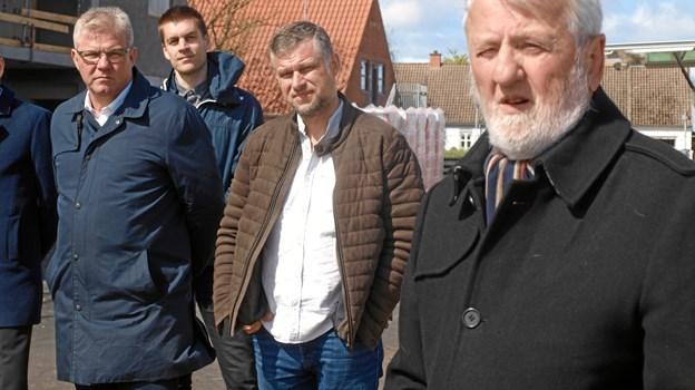 De tre talere Arne Boelt, Henrik Grøn og Troels Bidstrup Hansen.  Foto: Arne Larsen-Ledet