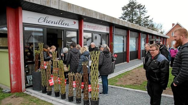 Chenillen har åbnet butik som er et butiksfællesskab med 11 aktører i Skovsgård. Foto: Flemming Dahl Jensen