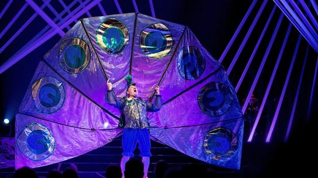 Irriterende genialt - Preben Kristensen på scenen i et spetakulært og komisk optrin. Foto: Lars Pauli © Lars Pauli