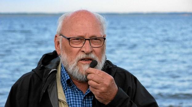 Søren Rårup fra Geopark Vestjylland holdt båltalen. Foto: Hans B. Henriksen Hans B. Henriksen