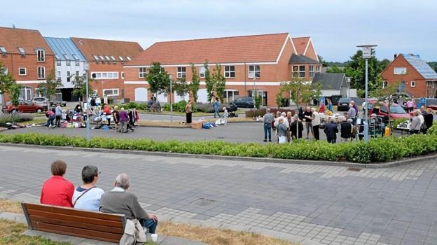 Bytorvet i Sindal egner sig vældigt godt til familiearrangementer som eksempelvis markedsdage. Foto: Niels Helver Niels Helver