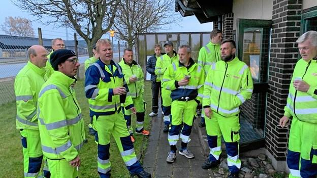 Renovationsarbejderne i Frederikshavn Kommune har strejket siden i onsdags.Privatfoto