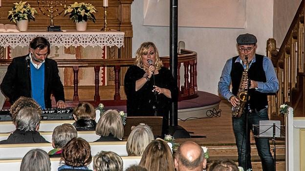 Løgstør Kirke er særdeles velegnet til koncerter af netop denne type som Marie Carmen Koppel præsenterede. Foto: Mogens Lynge Mogens Lynge