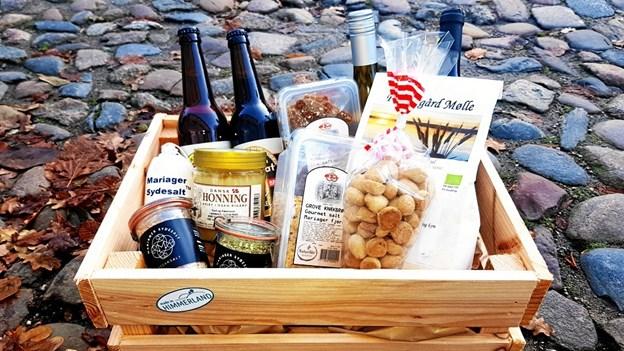 Made in Himmerland-kassen er igen i år de himmerlandske turistorganisationers bud på en oplagt julegave. Privatfoto