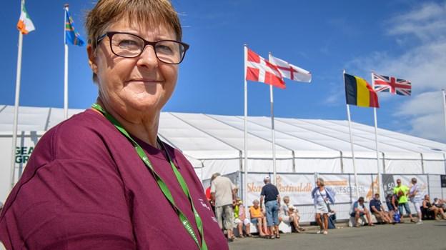 Lis Jensen er så klar til at tage mod de mange festivalgæster sammen med alle de mange frivillige. Peter Broen