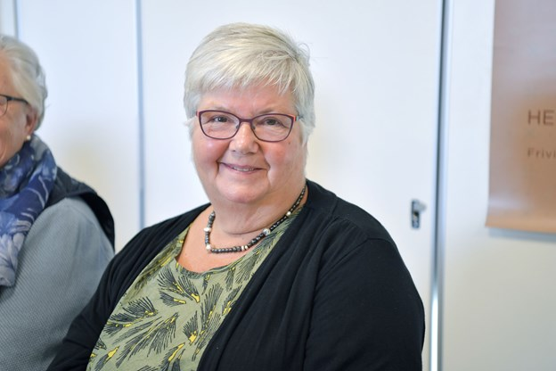 Karin Merete Nielsen fra Ældresagen i Dronninglund var indstillet bla. for sit arbejde med besøgstjenesten.Foto: Bente Poder