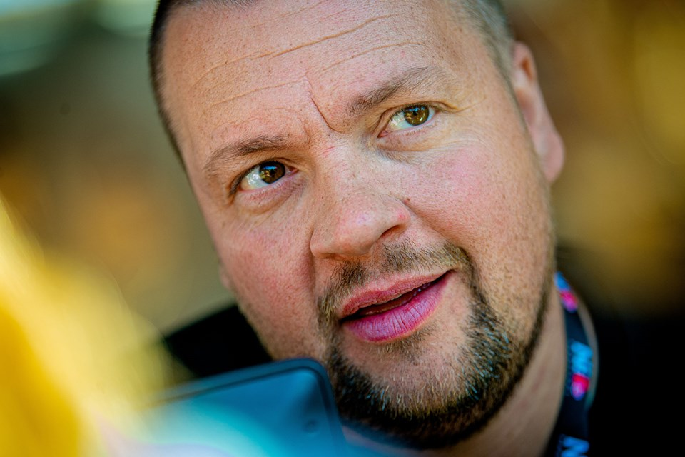 Martin Christensen understreger, at Aalborg Pride er en fest for alle. Foto: Martin Damgård