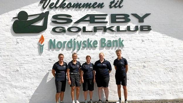 Deltagerne i oprykningskampene var Ingrid Harde, Jette Nymark, Jonna Kejser, Zita Christensen, Janni Jæger og Mette Linkhusen. Privatfoto.
