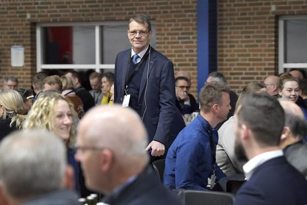 Borgmester Mikael Klitgaard holdt et oplæg, der havde fokus på alt det, man kan glæde sig over. Foto: Bente Poder
