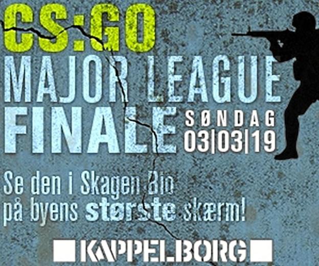 CS:GO Major League Finale 3.maerts hvor det dasnke tophold Asralis er med. Nu kan finalen opleves på storskærm i Skagen Bio.