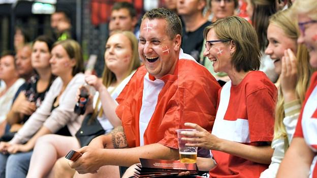 Danmark spiller landskamp mod Færøerne i Gigantium på søndag - og forhåbentlig bliver der lige så meget at glæde sig over som i juni sidste år, hvor vi slog Schweiz. Arkivfoto: Hans Ravn