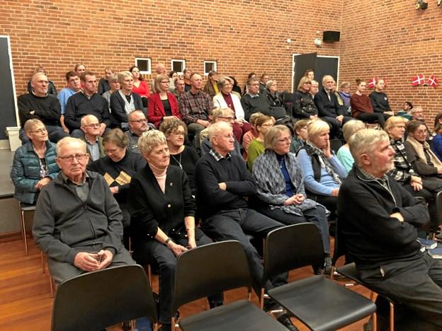 70 personer var mødt op til foredraget. Privatfoto