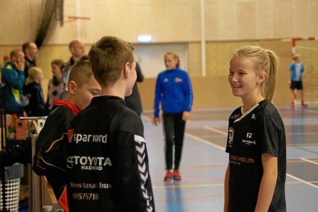 Anna Boel Baltsersen vandt U13B DD med Caroline Emborg Gregersen. Foto: Michael Søndergaard.