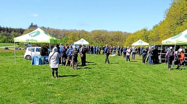 250 vandrere var med, da Vandreruten Tranum-Fosdal holdt et års fødselsdag Privatfoto