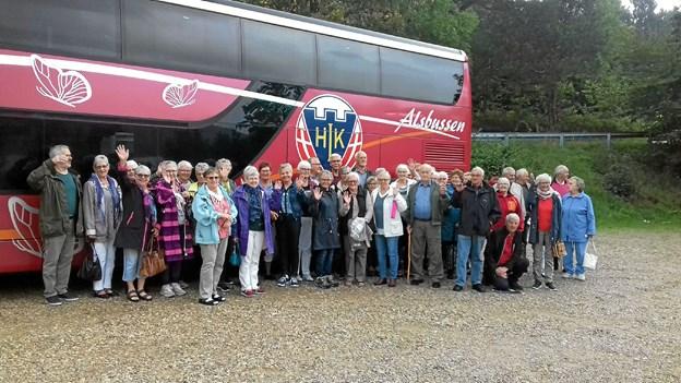 Cirka 50 frivillige fra Røde Kors i Arden var på udflugt. Foto: Privat