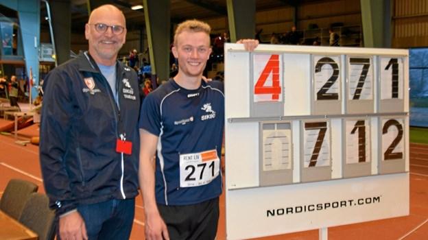 Kasper vinder DM inde med 7,12m i længdespring og Copenhagen Open ude, hvad bliver det næste? Foto: Gunnar Møller Nielsen