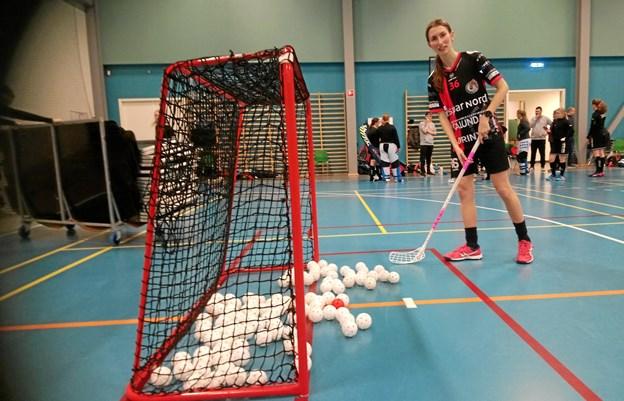 Sådan ser 100 point ud. Den røde bold symboliserer det 101. point, som Laura de Fries også gerne vil have. Foto: Blackhawks