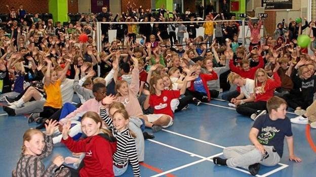 Danmarks første skolemesterskab i badminton blev holdt i Aabybro.