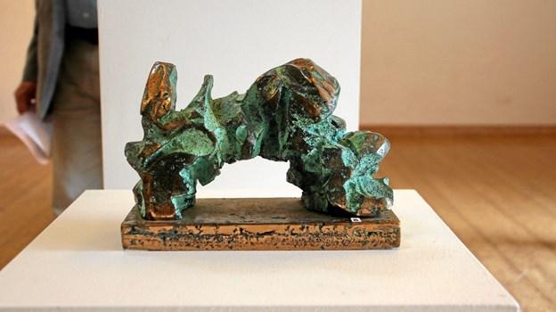 En af kunstnerens smukke skulpturer, støbt i bronze. Foto: Hans B. Henriksen Hans B. Henriksen
