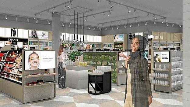 Sådan kunne den nye Matas butik komme til at se ud. Grafik: Matas Ole Iversen