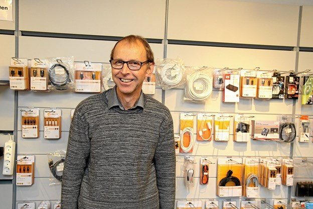 Bent Nielsen lukker Pandrup Radio & TV. Foto: Flemming Dahl Jensen