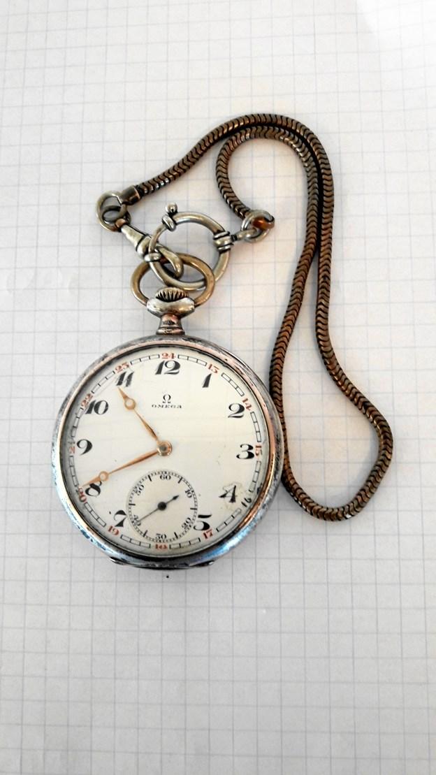 Uret, som de to piger fandt, er af mærket Omega.Foto: Thisted Politi
