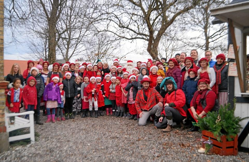 """Flot udklædte og engagerede spejdere stod bag """"Jul på Nisseborgen"""".  Foto: Kenneth Jørgensen og Kasper Mølbæk"""
