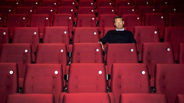 Benny Bruun lukker sal 1 og 3 ned efter påske, men der vises fortsat film i sal 2 og 4. Når de nye stole er sat ind i sal 1 og 3, følger den store make-over også i sal 2 og 4. Foto: Laura Guldhammer