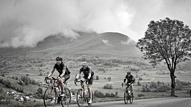 Nordjyske cykelentusiaster vil bestige Col de Galibier i kampen mod sclerose.   Foto: Scleroseforeningen