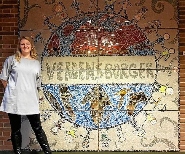 """Signe Lærke Petersen håber at eleverne bliver """"Verdensborgere"""". Foto: Karl Erik Hansen"""