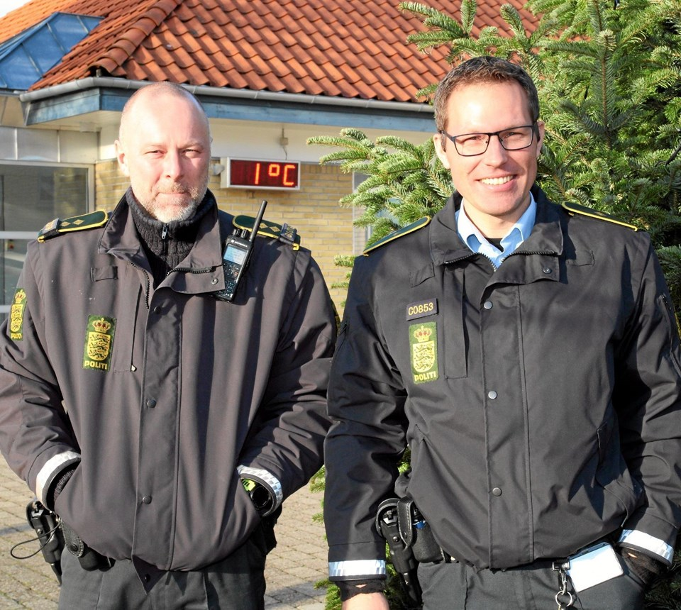 Nærpolitiet i Kaas er klar til at hjælpe. Flemming Dahl Jensen