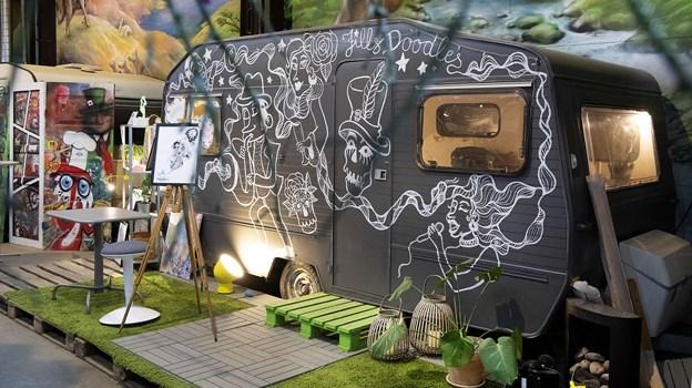 Jill´s Doodles holder til her i den kreative iværksætterby Urban City på Hjulmagervej. Foto: Peter Mørk